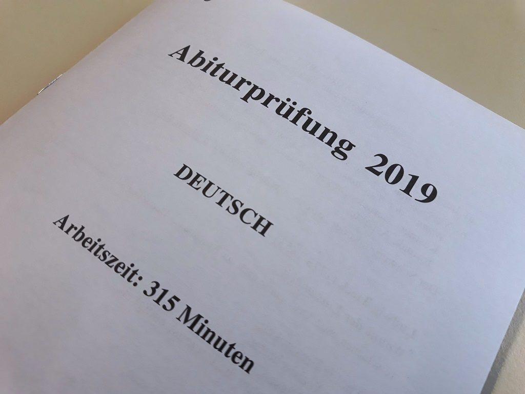 Abitur Deutsch 2019 Titelblatt